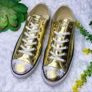 Converse Chuck All Stars Ox Chrome Gold Sz 10